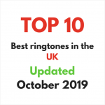 Top 10 popular ringtones in the UK in October 2019